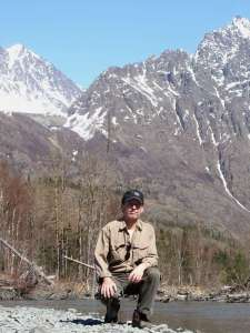 Steve on the Eagle River, Alaska 05-09