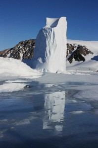 Iceberg in Glacier Strait, Nunavut, Canada, Image credit- Sandy Briggs.