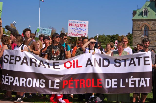 Tar sands protest Sept 2011, Ottawa Pic by R Leahy