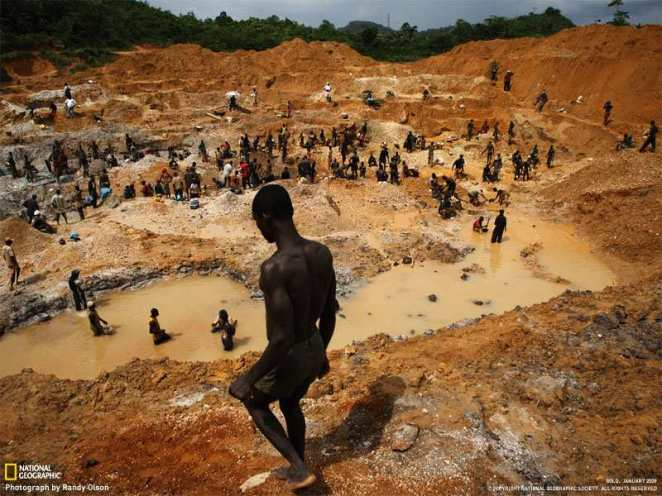 Small-scale gold mining in West Africa