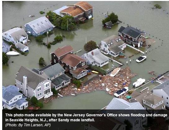 Jersey shore Superstorm Sandy flood
